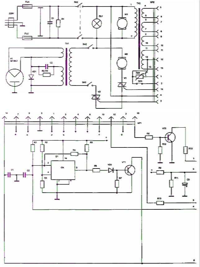 Схема часы электроника 7 06