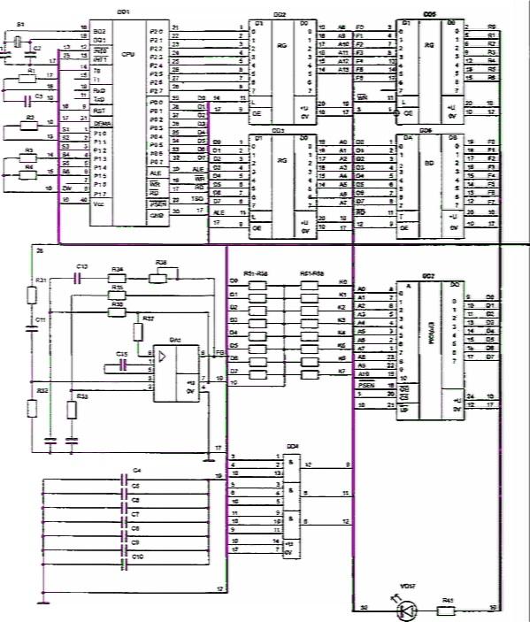 электрическая схема блока
