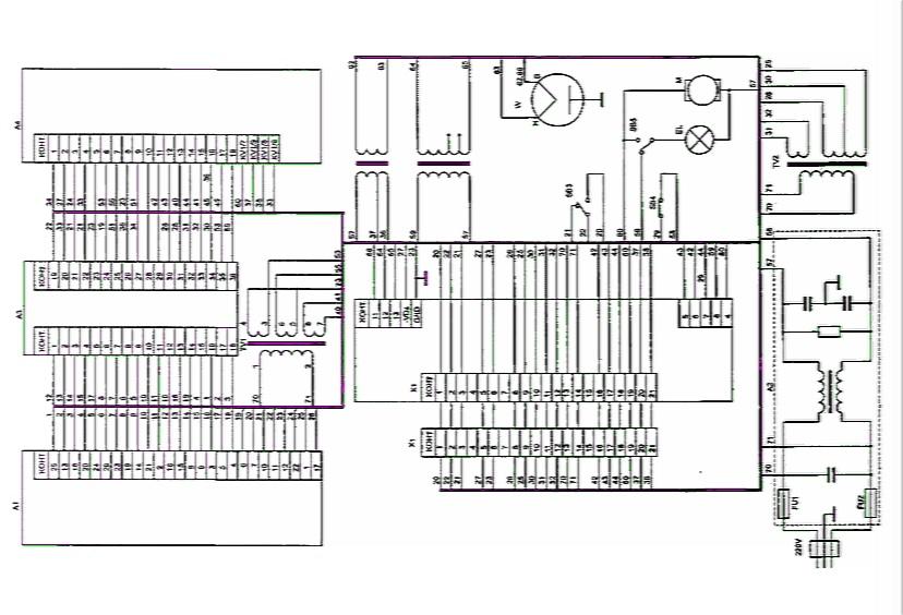 Принципиальная электрическая схема платы управления микроволновой печи...