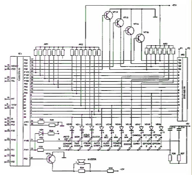Принципиальная электрическая схема микроволновой печи фото 774
