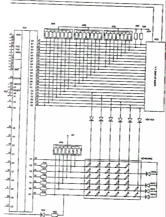 Микроволновая печь RE1280 samsung.  АНАЛОГИ деталей И СХЕМЫ.