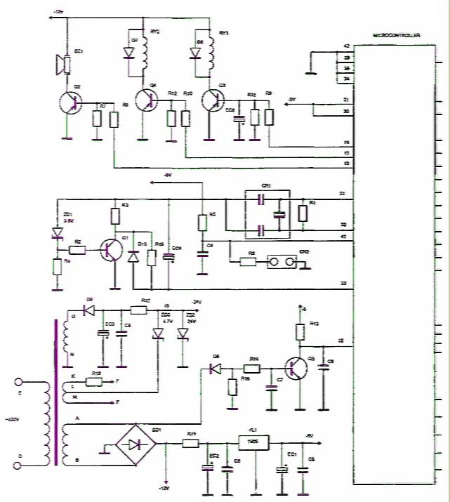 Схема электрическая geely mk